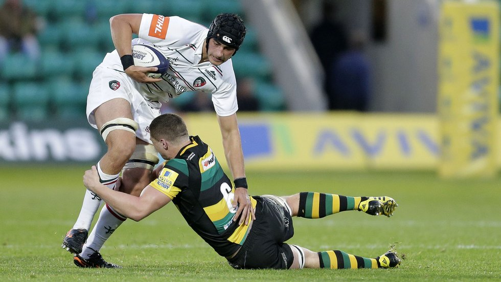 Sam Lewis has played Anglo-Welsh Cup and 'A' League rugby with Tigers this season