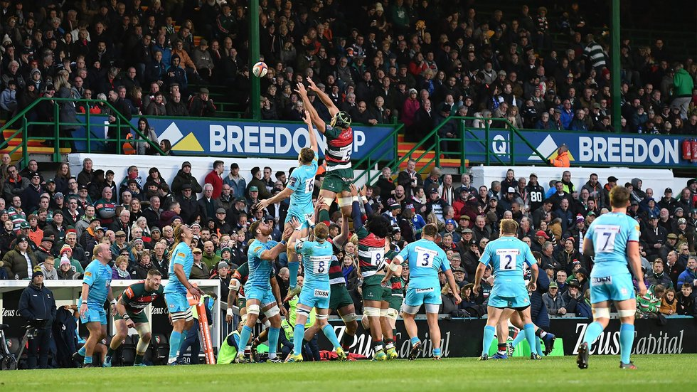 Graham Kitchener claims lineout ball for Tigers in his return to action on Saturday