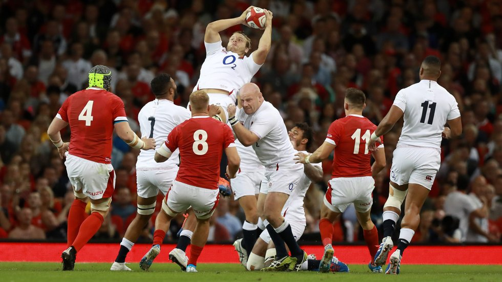 Leicester Tigers prop Dan Cole in action for England during the Rugby World Cup warm-up game against Wales in Cardiff