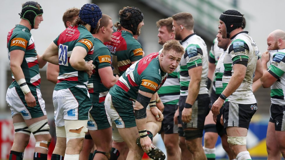 Front-rower Joe Heyes was involved in both wins over Newcastle Falcons, in league and Europe