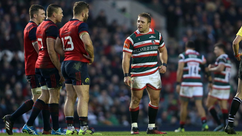 Last year's Image of the Season - Tom Youngs against Munster in the Champions Cup at Welford Road