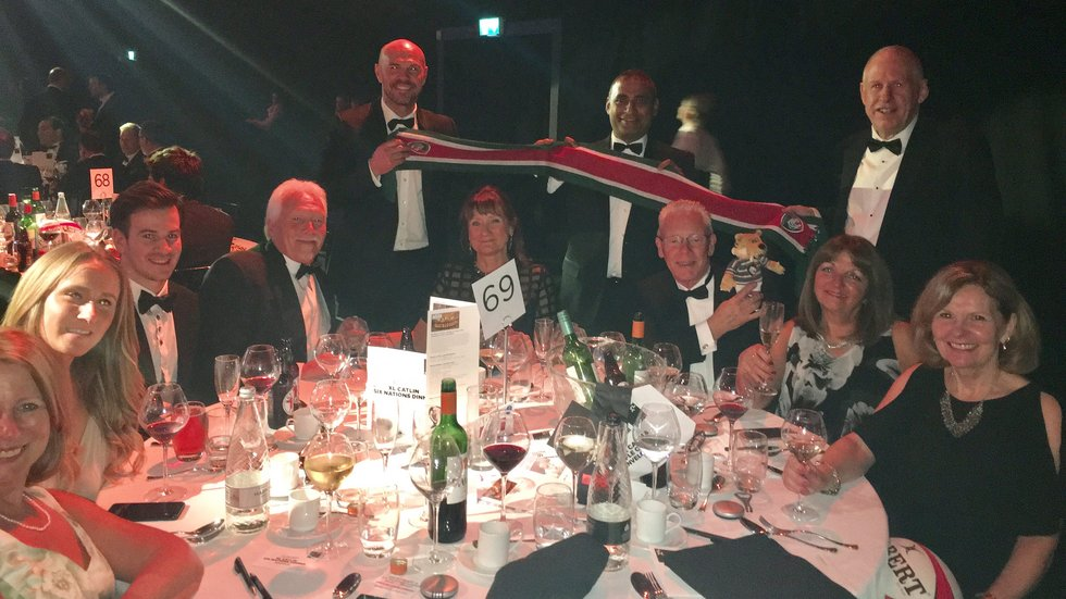 TigersLotto winners enjoy last season's XL Catlin Six Nations Dinner