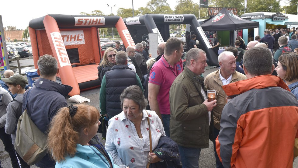 Visit the activities on the plaza outside the Holland & Barrett Stand on the way into Friday's home game at Welford Road