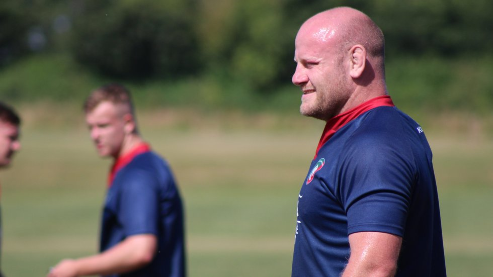 Dan Cole out on the training pitch during the pre-season 2018/19 schedule.