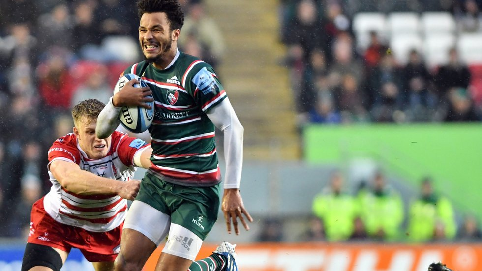 The Tigers Academy graduate beat 10 defenders at Welford Road on Saturday.