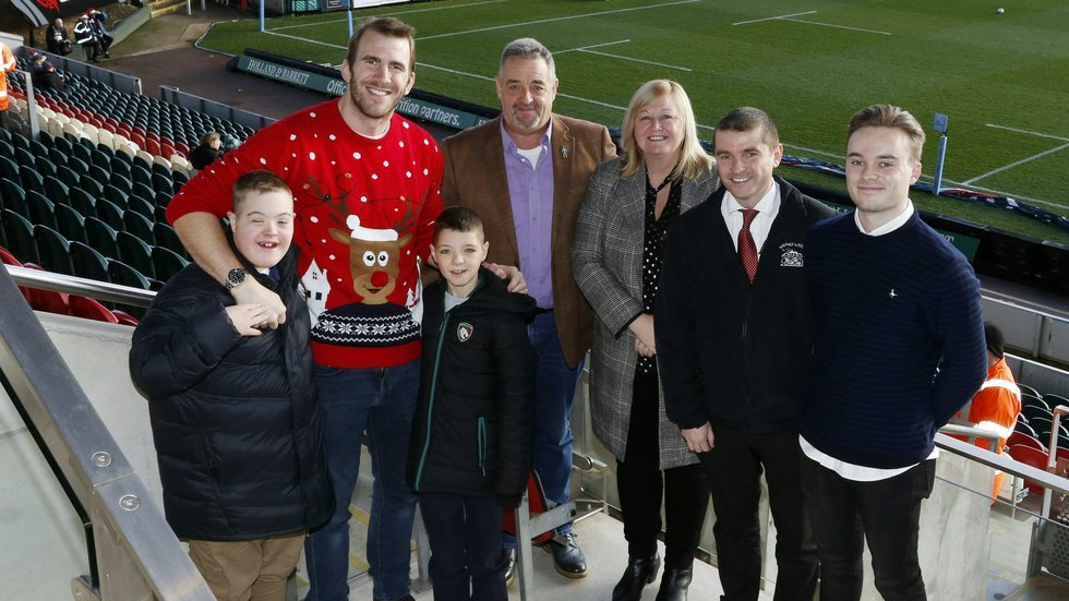 Hospitality host Tom Croft wore his best Christmas jumper for the afternoon