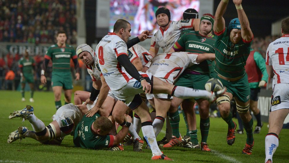 Ruan Pienaar kicks for Ulster in the most recent Tigers trip to the Kingspan Stadium in Belfast