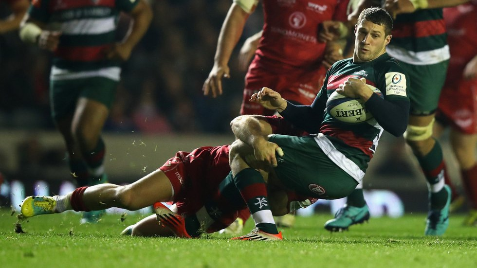 Jonah Holmes in action against the Scarlets in Friday's Heineken Champions Cup victory