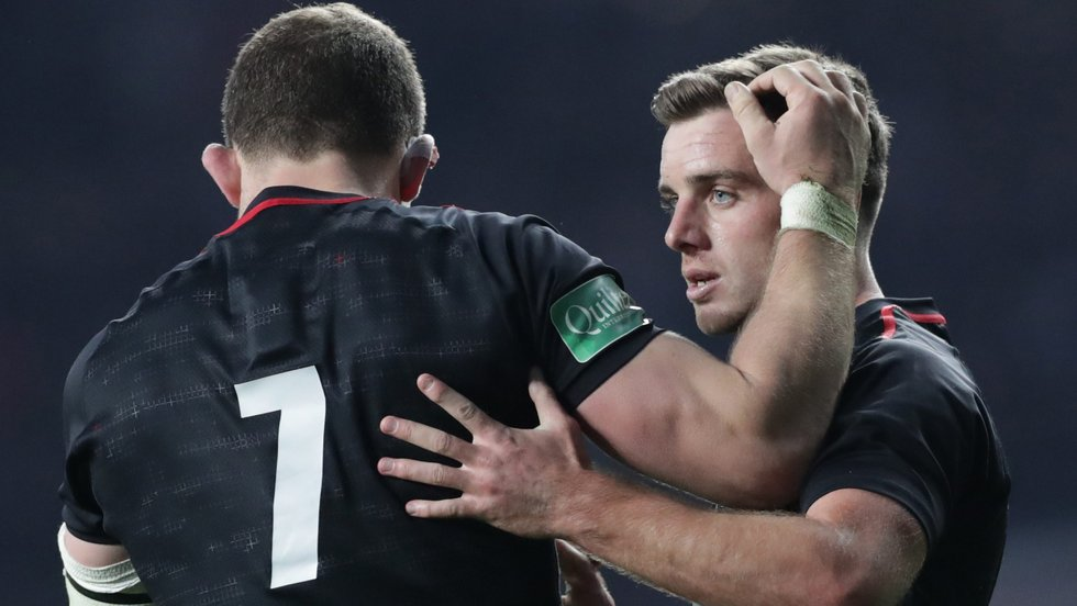 George Ford leads out England again after acting as captain in the win over Japan last season
