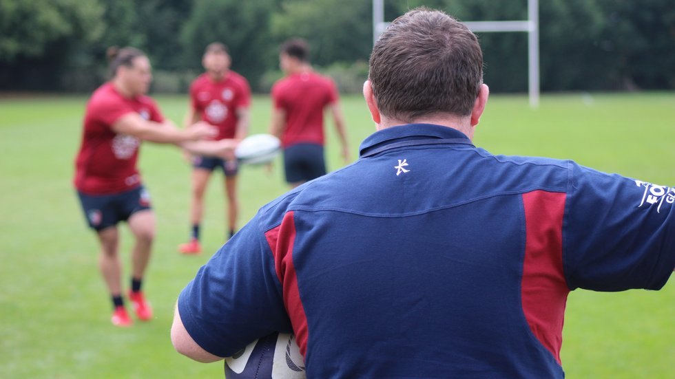 Matt O'Connor watches on during a skills session at the club's Oval Park Training Ground.