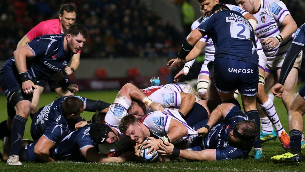0004513b9aa Leicester Tigers were beaten 32-5 at Sale Sharks in Round 16 of the  Gallagher Premiership season on Friday evening and lost back-rower Sione  Kalamafoni to a ...