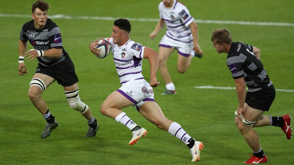 Sam Aspland-Robinson made his Leicester debut at the Premiership Rugby 7s in 2018.