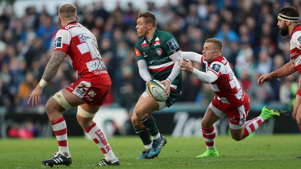 Harry Simmons made his senior debut in a Cup win over Gloucester earlier this season